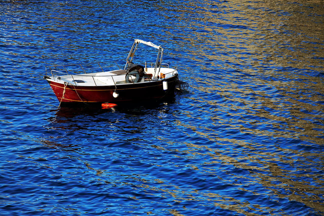 nautical vessel, transportation, mode of transport, boat, waterfront, water, moored, outdoors, no people, nature, day, blue, sea, sailing, beauty in nature