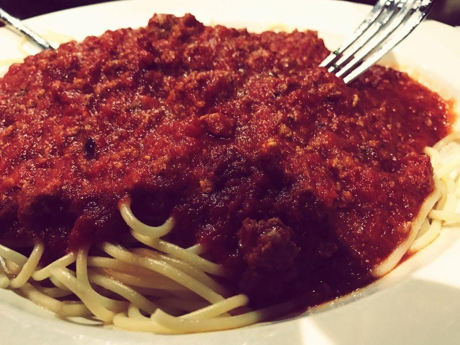 Food Plate Speghetti Meat Sauce Reataurant Italian