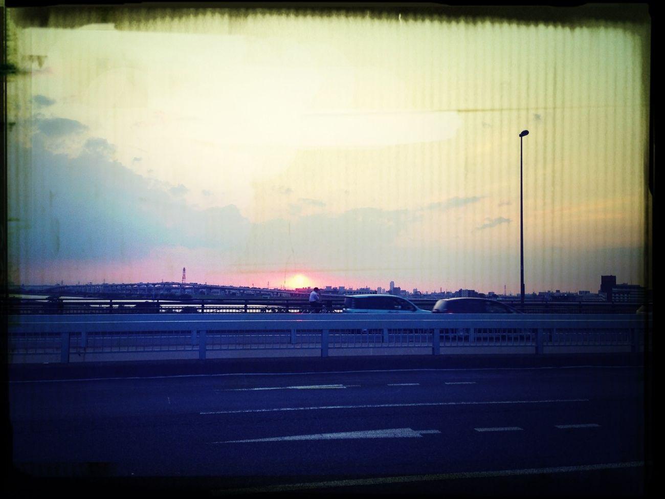 夕日が綺麗だー!