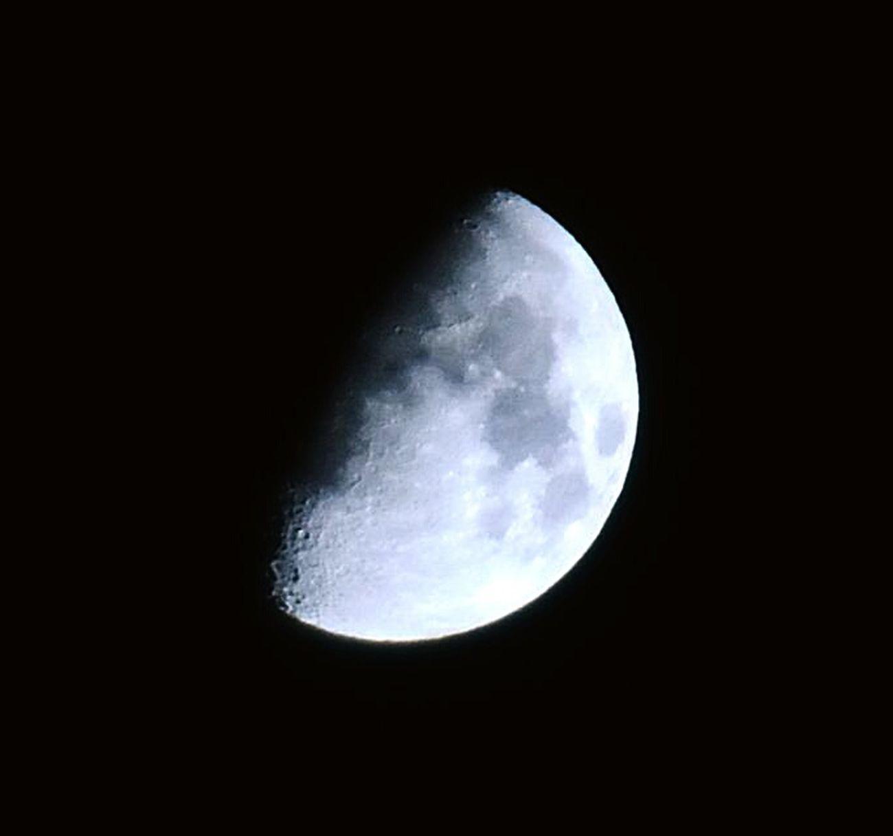 Half Moon Moon Oujda City, Morocco سبحانك ربي Beauty Nature Sky A Look At The Sky Night Photography