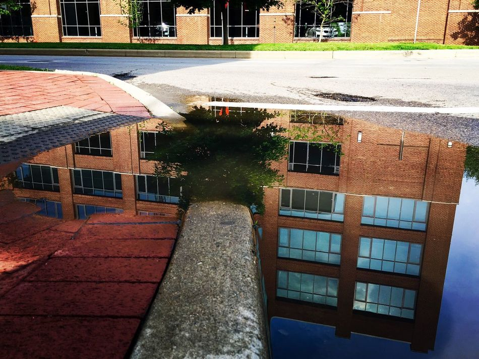Reflection Building Water Puddle Cbus Ohio Photography Street