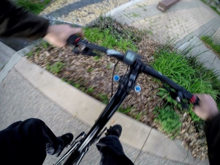 mind the gap, or just hop over it Action Bike Bicycle MTB Mountainbike Perspective Speed Obstacles Human Hand Blurred Motion Human Body Part Handlebar Human Leg Motion Outdoors POV Riding The Way Forward On The Move Capturing Movement (null) Capturing Freedom No Budget Photography