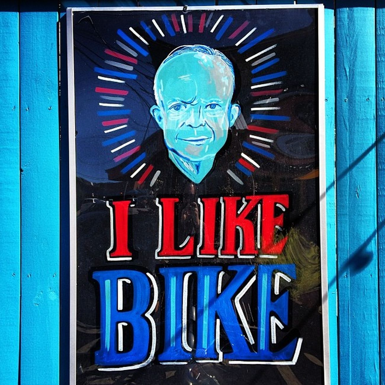 Vintage Bike Blue Bicycle Red America Classic USA White Colorful Patriotism Hipster Uptown Patriotic NOLA POTUS President 50s 1950s Redwhiteandblue Neworleans Ike Neoclassic Rr_givemeasign Jj_louisiana_041 Dwighteisenhour Ilikeike Eisenhour