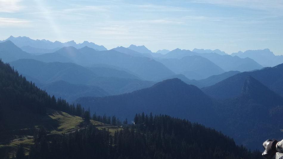 Mountain Mountain Range Landscape Nature Blue Beauty In Nature No People Outdoors Alps Bavaria Wallberggipfel