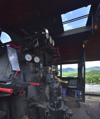 Nostalgic old steam train carrying memories of many people Engine Room Holiday Mechanical Sightseeing Train Travel Cab Control Day Go Ahead Locomotive Mode Of Transport No People Nostalgic  Old Train Operating Outdoors Rail Transportation Steam Train Tourism Train Train - Vehicle Transportation Vacation