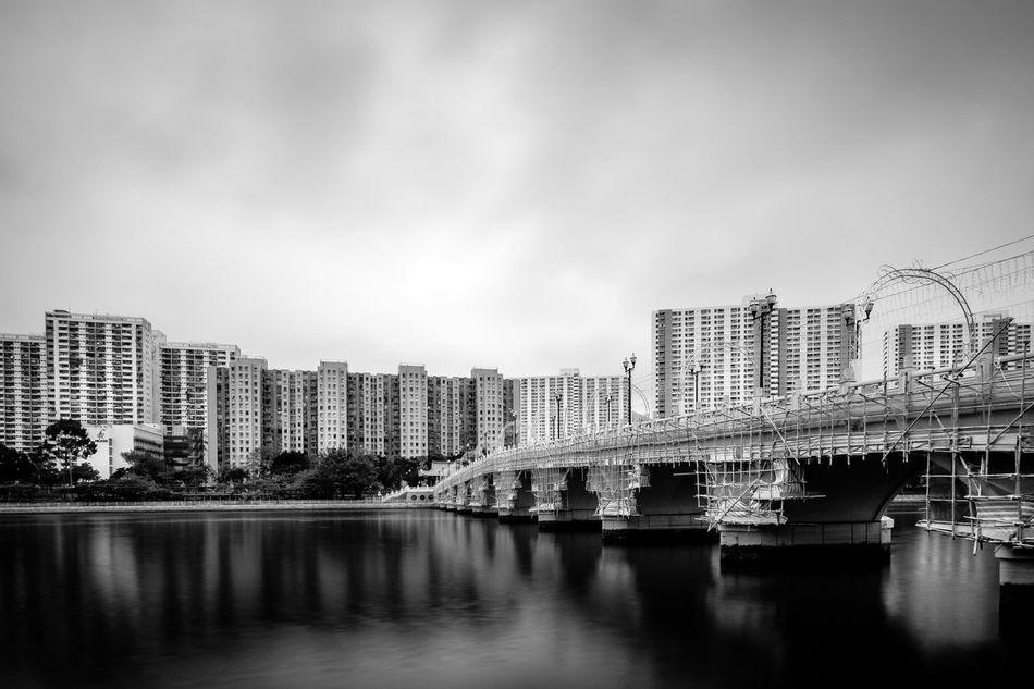 Hong Kong ASIA Urban Black And White Blackandwhite Sha Tin Shatin Shingmunriverside Shingmunriver Shing Mun River