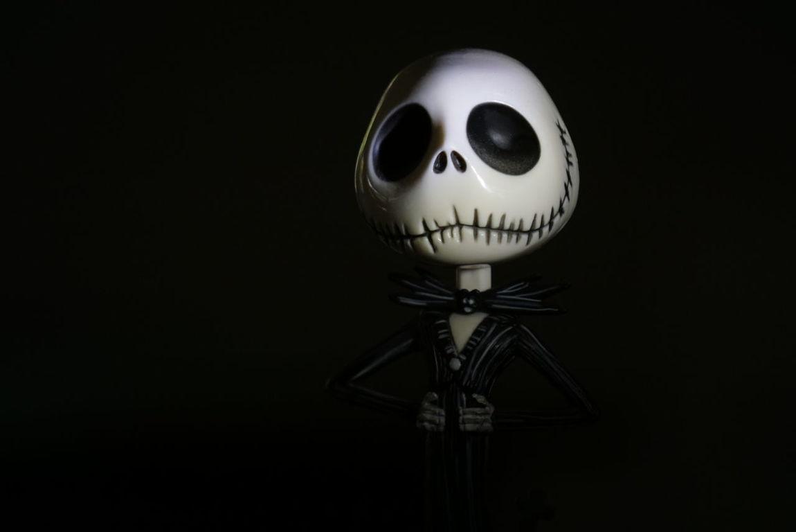 JackSkellington Nightmarebeforechristmas Ledtorch playing with lighting set ups on a miniature scale.