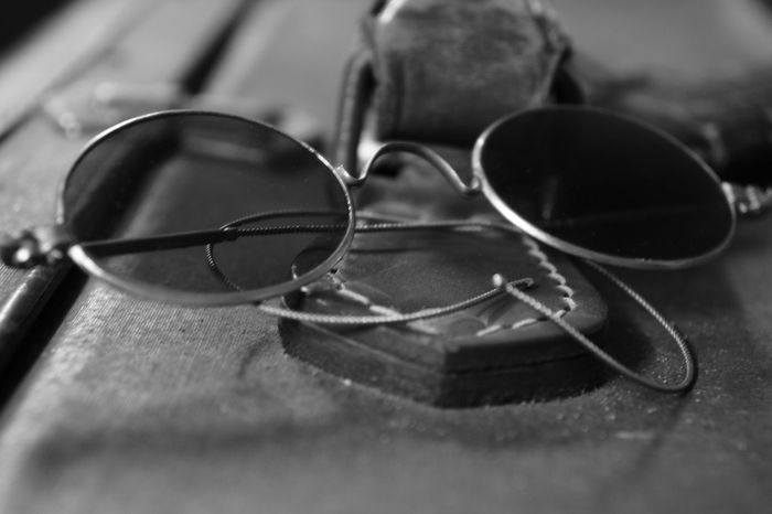 These are glasses from the early 30s 30s Arts Culture And Entertainment Blackandwhite Close-up Day Eyeglasses  Glass Glasses Indoors  No People Old-fashioned Sunglasses Table Vision War Memorial Lieblingsteil EyeEmNewHere