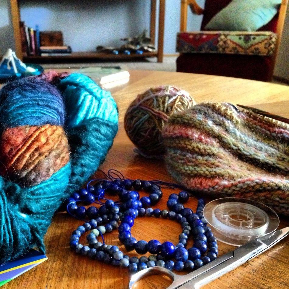Day off - getting me a creativity fix! Yarn Knittingfrenzy Chickswithsticks Onyourneedles