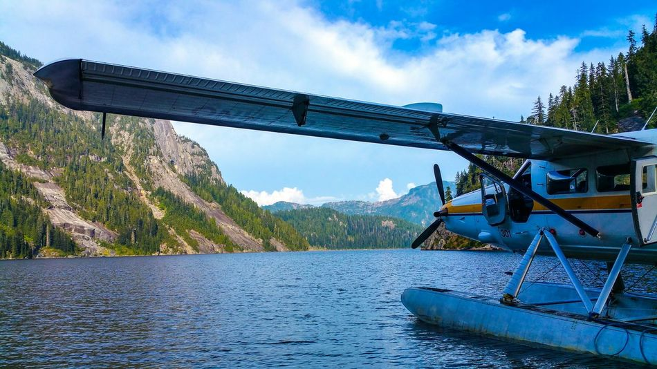 Sitting on Widgeon Lake, British Columbia My Smartphone Life Taking Photos Landscape Sea Plane Vancouver BC Britishcolumbia Lake View Nature Connected With Nature Dehavilland