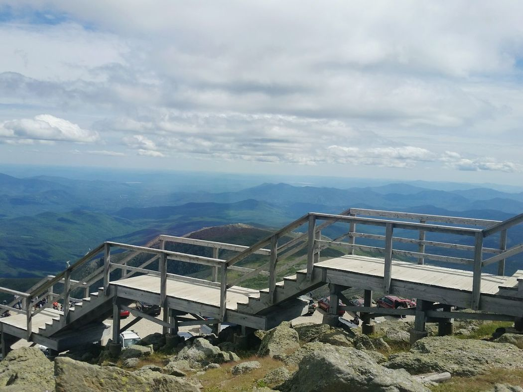 Mountain View Mountain Range Layered Landscape Bridge - Man Made Structure Steps And Staircases Mt. Washington