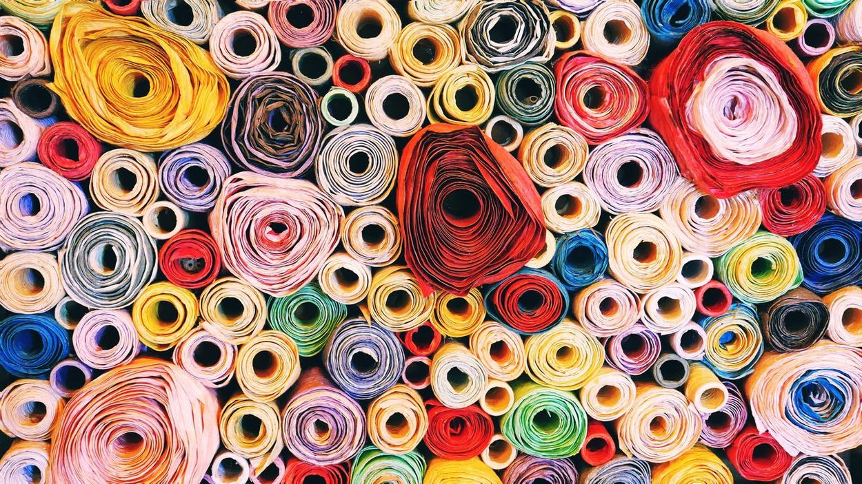 Multi Colored Full Frame Rolled Up Choice Variation Backgrounds Large Group Of Objects Close-up Abundance Textile No People Retail  Indoors  Day