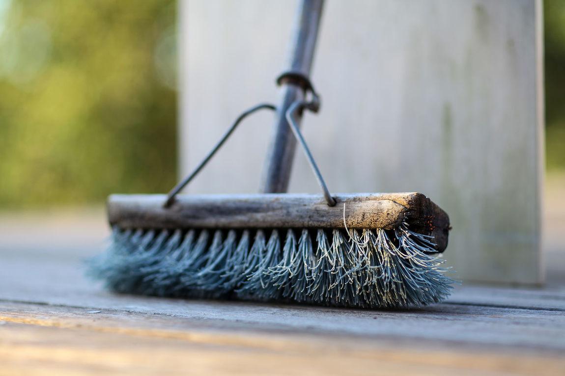 Broom Bristles Broom Clean Sweep Day Focus On Foreground No People Sweep Swept Swept Away Well Worn