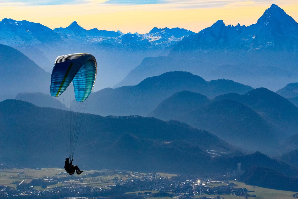 Mountain Nature Landscape Extreme Sports Mountain Range Adventure Outdoors Sky Beauty In Nature Paragliding Mountain Peak Scenics Salzburg, Austria Gaisberg Austria Alpenpanorama