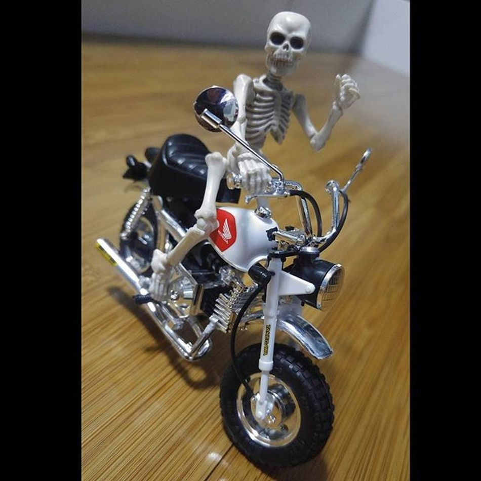 Yooo.... Motorcycle Figure Toys Skeleton Rement Poseskeleton Honda Monkey Hondamonkey Hondaz50 Val  2016 LGG4 LG  G4 😚 😚 ☠