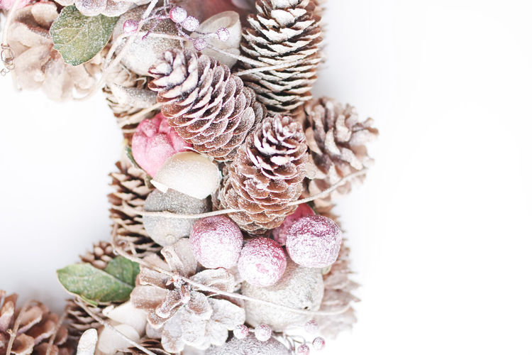 Celebration Event Christmas Decoration Christmastime Details Textures And Shapes Marry Christmas Natural Pine Room For Copy Room For Text Shape Xmas Decorations Wreath Decorated Wreath