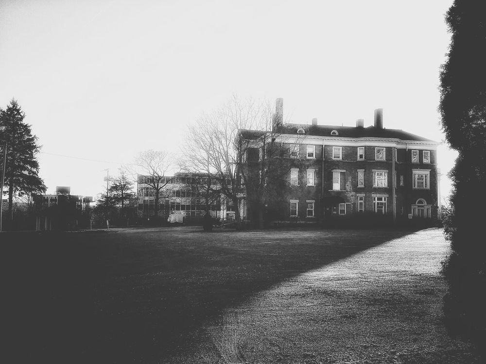 Black & White Blk N Wht Old But Awesome Hauntingly Beautiful Mansions Brick Building Black And White Photography Old Brick Building Architecturelovers House On The Hill