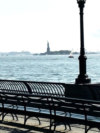 Lady Liberty EyeEmNewHerе Scenics Outdoors Tranquility Day No People Statue Of Liberty NYC Photography Battery Park City Hudson River