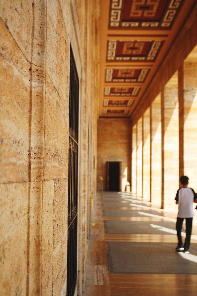 Full Length Walking Architecture Corridor Day History Narrow Architectural Column Anıtkabir