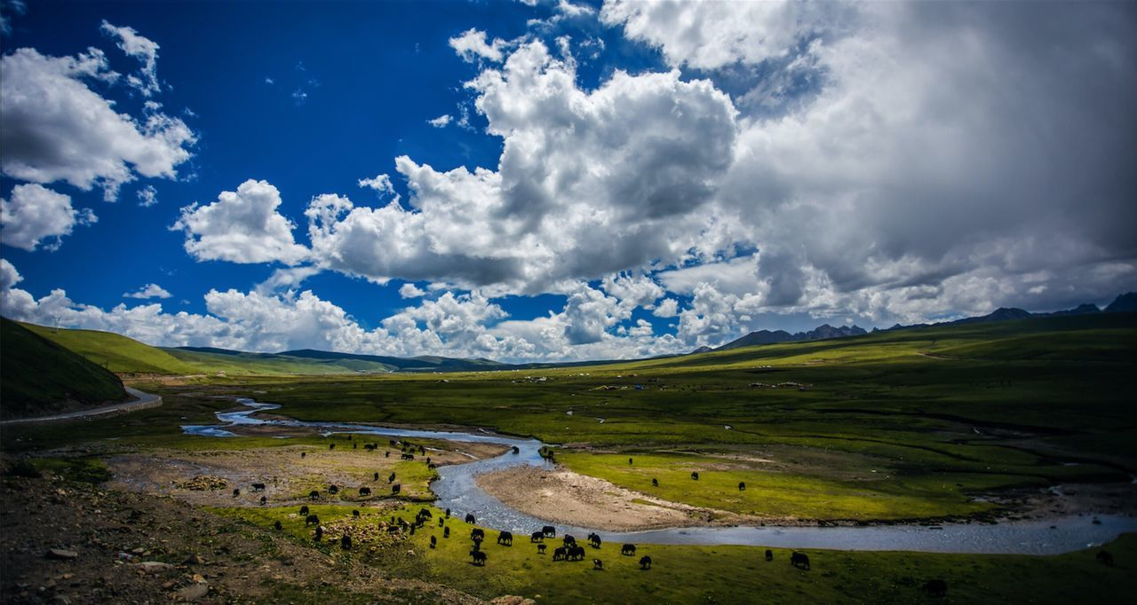 Plateau scenery of Sichuan Province, China Check This Out Hanging Out Hello World Hi! Taking Photos Enjoying Life Colour Of Life China Photos Beauty Of The Night Amusing Photo Chinese Scenery
