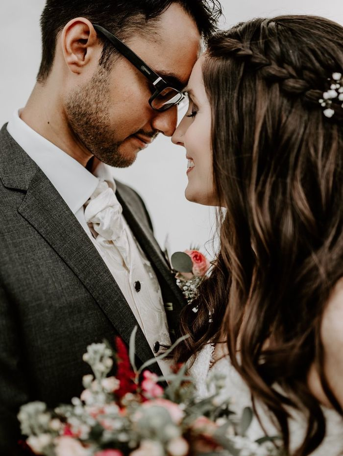 We love because HE first loved us. Two People Couple - Relationship Men Love Togetherness Young Adult Young Men Young Women Women Young Couple Wedding Eyeglasses  Adult Married Bonding People Bridegroom