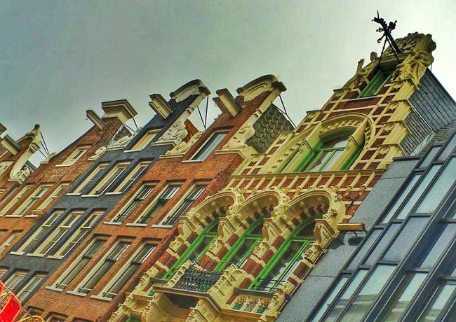 Amsterdam Amsterdamcity Architecture Beautiful Building Building Exterior Built Structure City City Citylife Clear Sky Colourful Holland Iamamsterdam Low Angle View Netherlands Niederlande No People Oldtown Outdoors Residential Building Sky Window