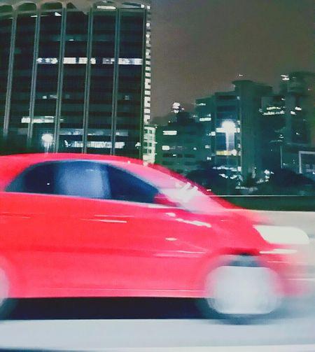 Photograph City City Night Red Car Night Car Nightlife