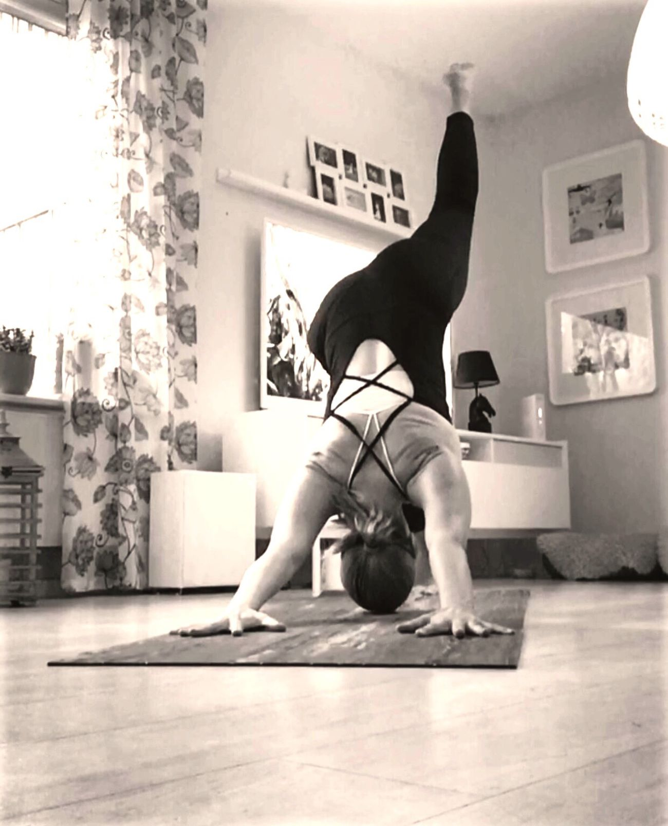 Yogamkesmehappy Full Length One Person Real People Blackandwhite Yoga Sweden Flexibility Fitness Motivation ! Gymshark Raw Beauty Yoga Pose Yogaeverydamnday Yoga Practice Fitover40 Practiceandalliscoming Yogainspiration My Year My View Self Portrait Women Hello World Eyemselfie Enjoy The New Normal Yogini Healthy Lifestyle