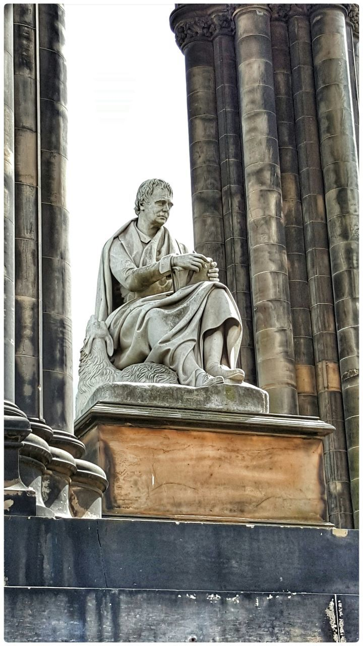 Low Angle View Of Statue At Scott Monument