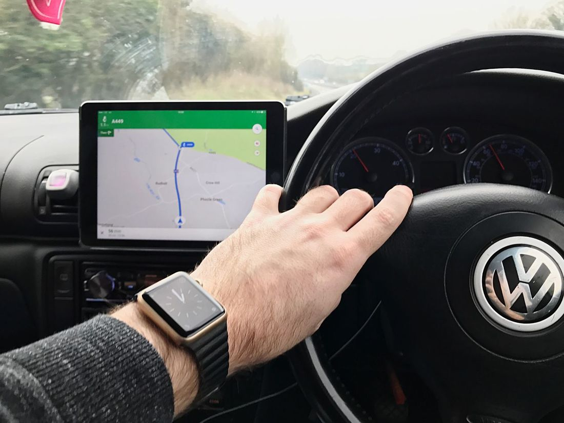Car Human Hand Human Body Part Transportation Technology Dashboard Car Interior Wireless Technology One Person Vehicle Interior Control Mode Of Transport Holding Land Vehicle Touching Driving Adults Only Day People Adult Apple Ipad IPad Air 2 Apple Watch 1pm