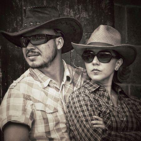 Black And White Portrait Couple Costa Rica