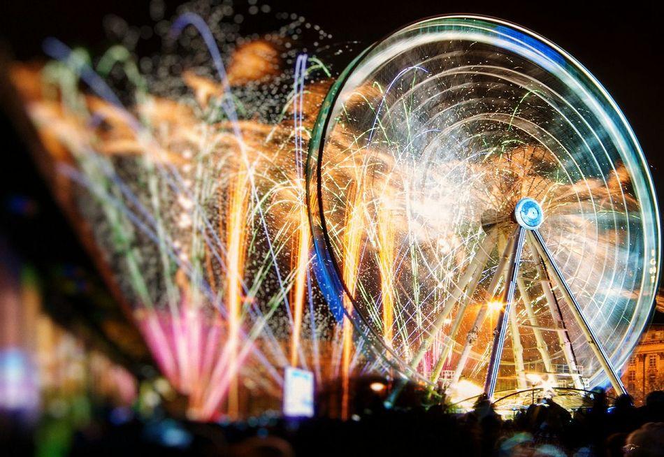Beautiful stock photos of fireworks, Amusement Park, Amusement Park Ride, Arts Culture And Entertainment, Blurred Motion