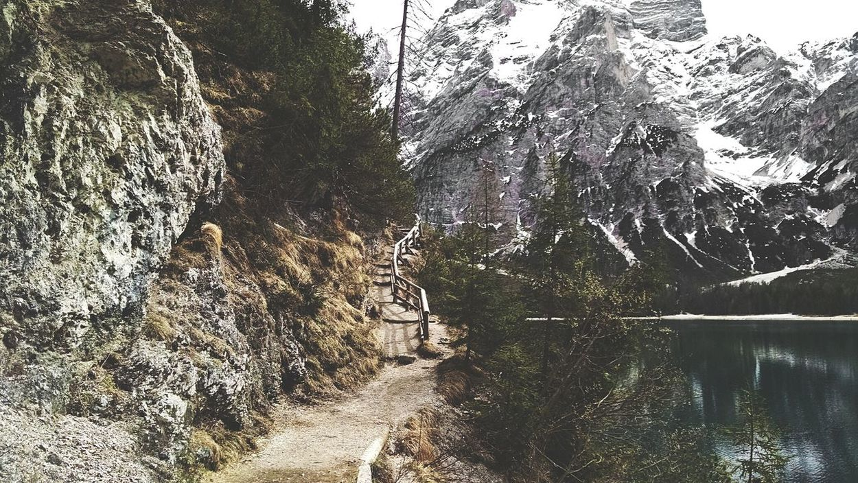 Panoramic path around the sea. Sea Path Nature The Alps What I Value Edge Of The World Water Landscape Mountain View The Dolomites Seeing The Sights The KIOMI Collection Landscapes With WhiteWall The Great Outdoors - 2016 EyeEm Awards The Great Outdoors With Adobe Miles Away