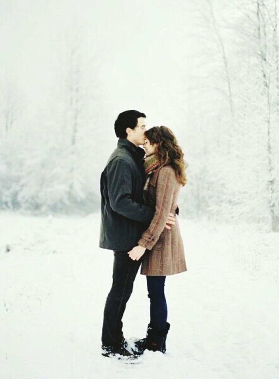 When you feel the Warmth of his Lips on your Forhead in -20 degree of Winter . When you feel the August in the coldest wintertime ♡ Love Each Other and never forget your lover and The World Need More Kisses ♡