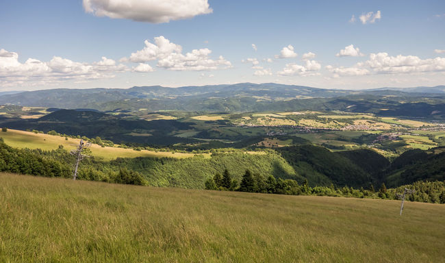 landscape Beauty In Nature Cloud Cloud Day Field Green Color Hill Horizon Over Land Idyllic Landscape Mountain Mountain Range Mountains Pansky Diel Scenics Sky Slovakia Tree