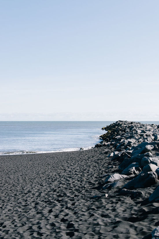 Beach Beauty In Nature Blue Calm Clear Sky Coastline Day Horizon Over Water Iceland Idyllic Nature No People Non Urban Scene Ocean Outdoors Remote Rippled Scenics Sea Shore Sky Tranquil Scene Tranquility Vik Water