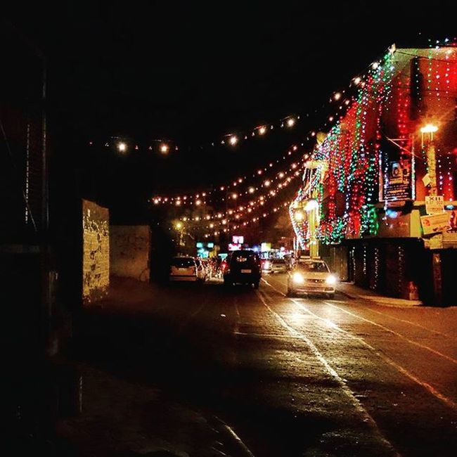 Bright, colorful, blinding streets. Delhi Delhiuniversity Streetsofdelhi _soi Nightlights LEDLights Fairylights Streetsofindia India