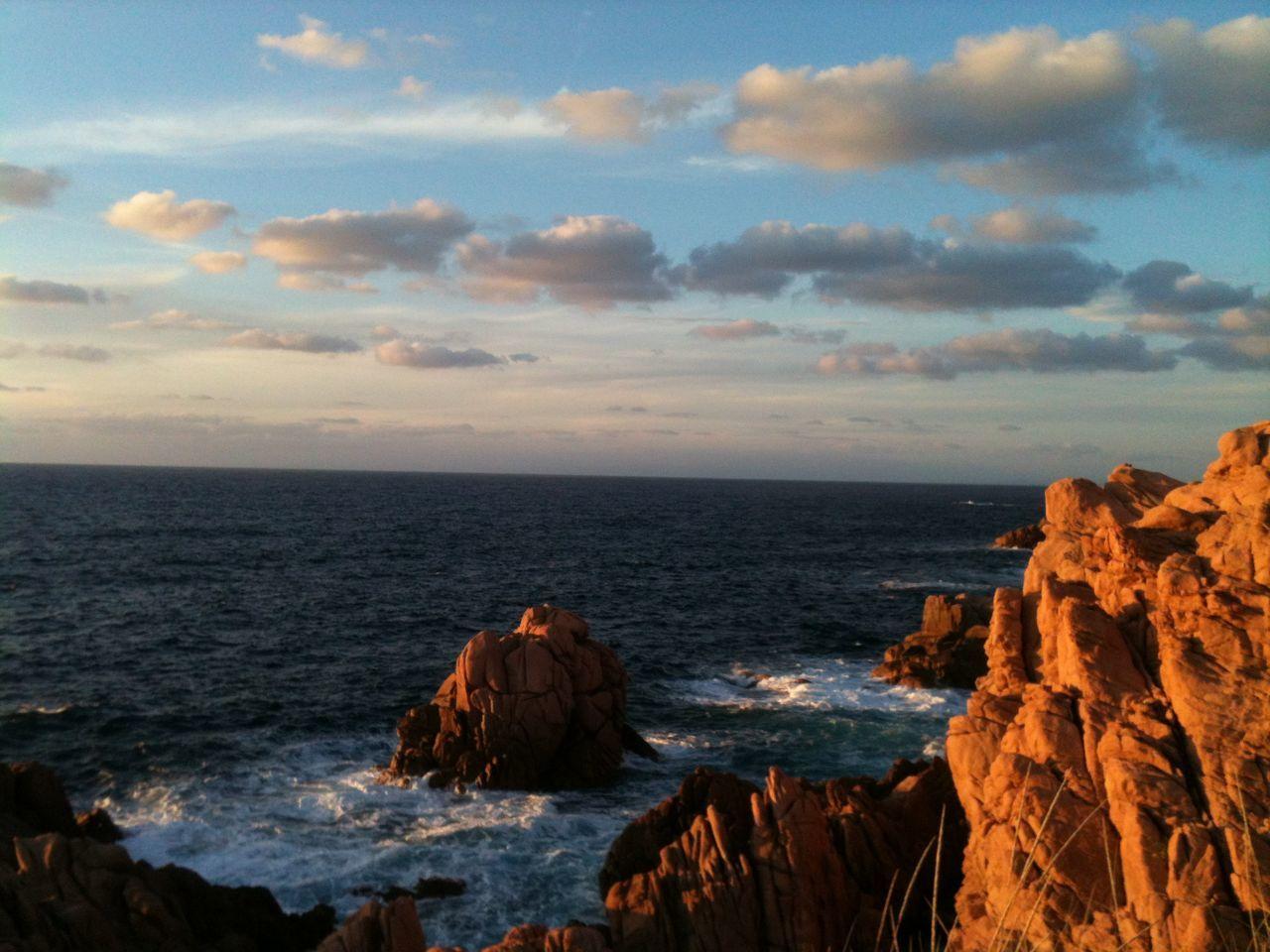 Cliffs Coast Costa Paradiso Italy Landscape Nature No People Rocks Romantic Sardinia Sardinien Sea Sunset