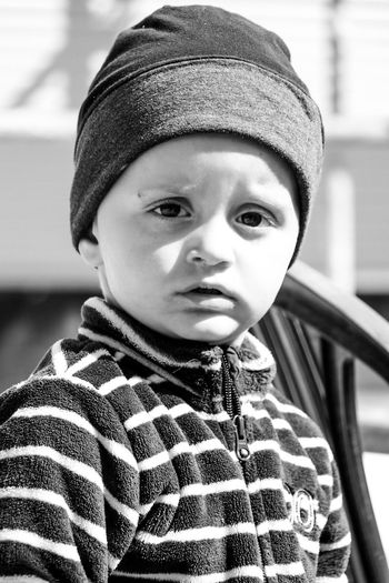 Black And White Friday Child Portrait One Person Warm Clothing Outdoors Macédoine - Llojane