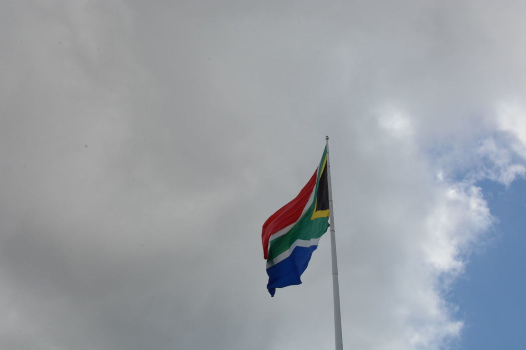 RSA Cloud - Sky Cloudy Day Flag Flags Identity Multi Colored National Flag Outdoors Patriotism Sky South African Flag Wind