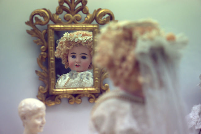 Art Bride Dress Chinadoll Close-up Conceptual Doll Figurine  Mirror Naif Reflections Retro Still Life Super Retro .Telling Stories Differently Toy Vintage My Favorite Photo