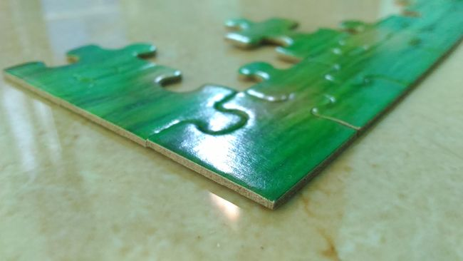 PuzzlePieces Puzzle  Green