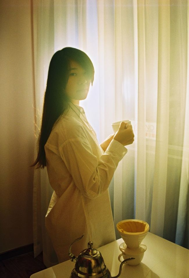 Portrait Girl 私 Coffee Time Portrait Of A Friend Pentax Pentax K5ll