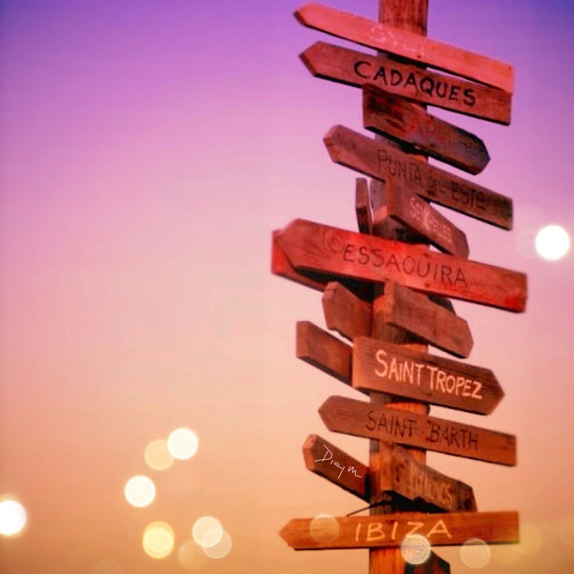 text, western script, communication, guidance, sign, information sign, capital letter, non-western script, information, low angle view, arrow symbol, road sign, illuminated, clear sky, direction, red, directional sign, number, no people, close-up