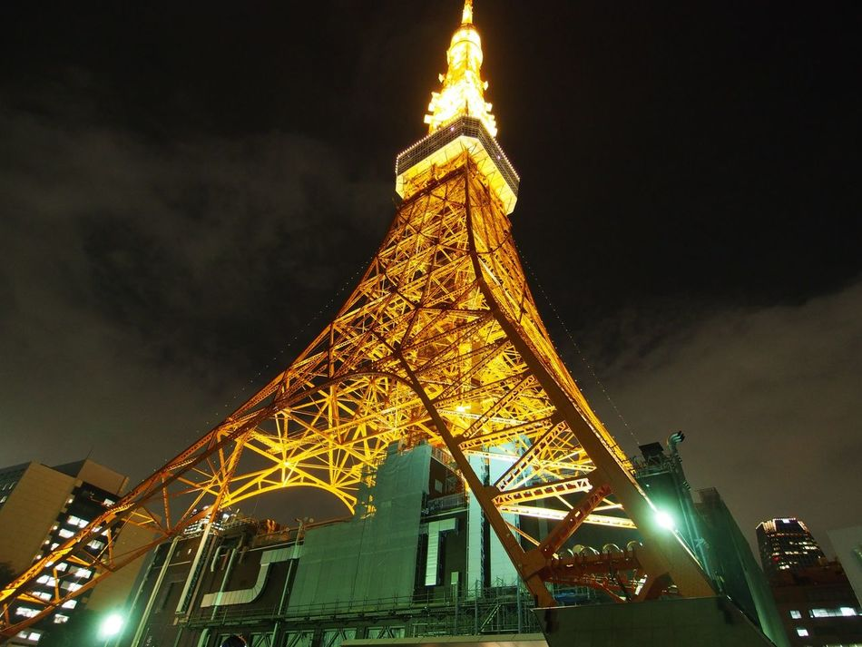 Tokyo Tower Architecture Landscape Night Lights Tokyo Tower Light And Shadow Tower
