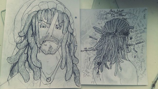 dreadlocks Gel Pen First Eyeem Photodreadlocks RASTA Dreadlocks Natty Usopp Drawing Sketch Character Graphic Pencil