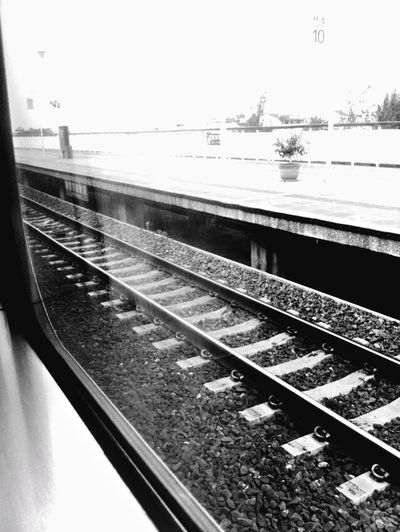 I don't want to leave home. Taiwan Pingtung Fangliao Black And White OpenEdit Window View Train