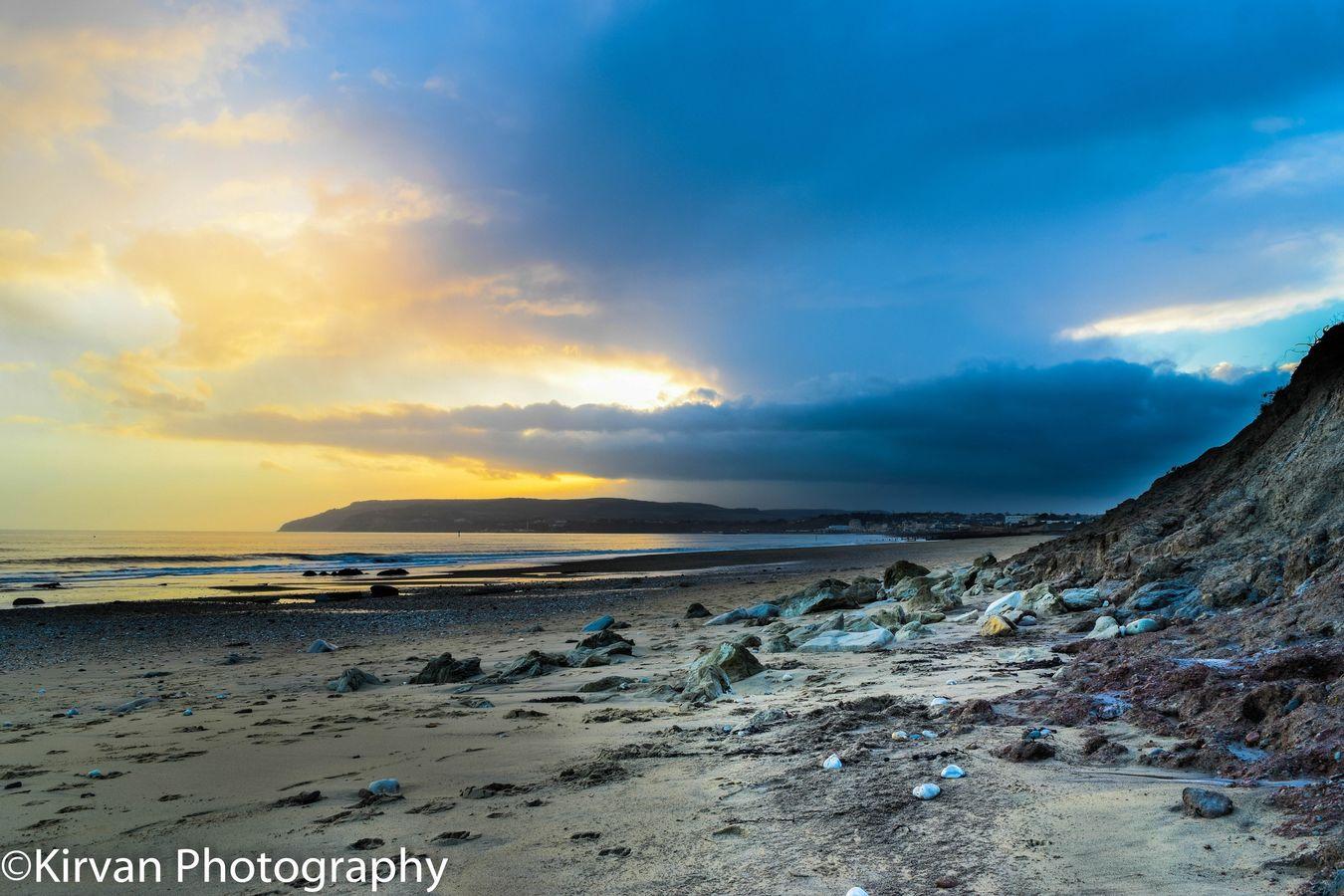 Evening on Yaverland beach Yaverland Landscape Beach Isle Of Wight