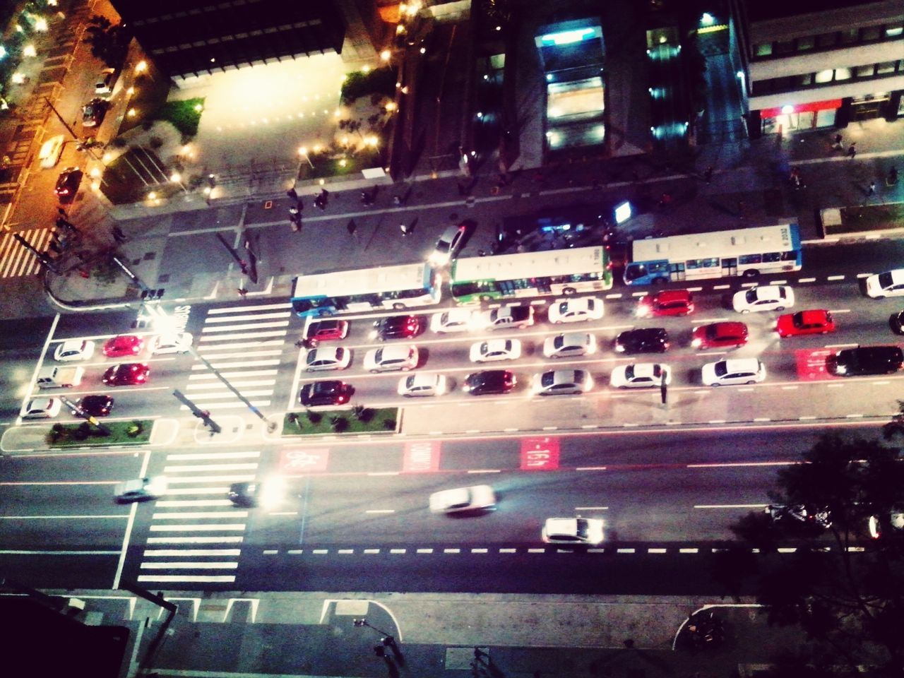 Elevated view of traffic