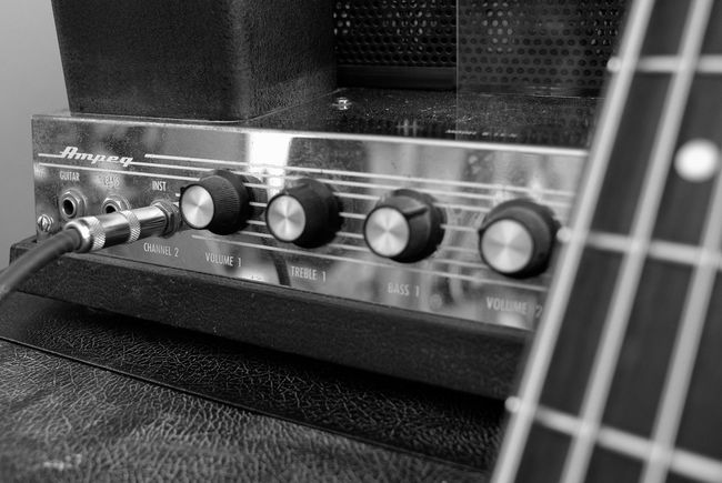 1970's Ampeg Ampeg  Amplifier B-15 Bass Guitar Black And White Leicacamera Music Gear Tube Amp Vintage Music